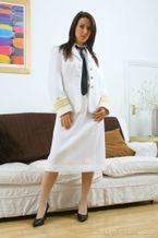 Only Tease – Sabrina in a navy uniform