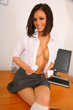 Solely Tease – Gemma Massey in a school uniform