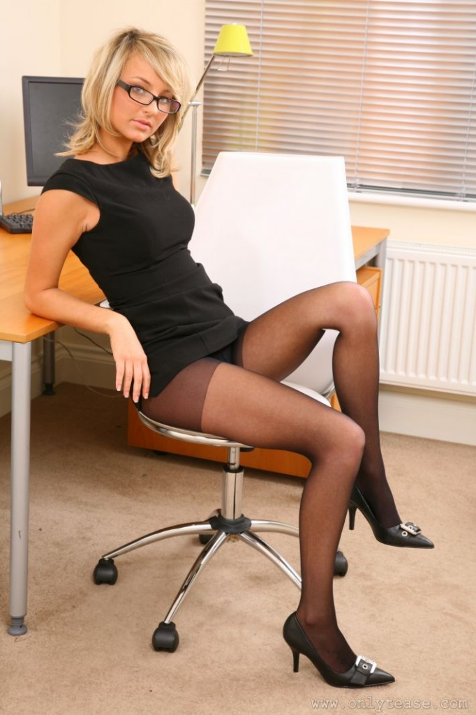 Only Tease - Fran M In Sexy Secretary Uniform