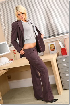 Only Tease - Amber Being Naughty In The Office