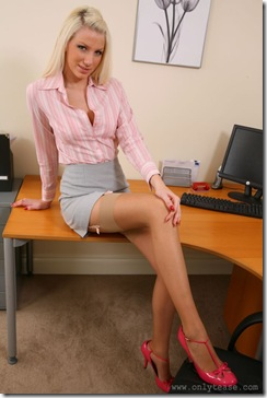 Only Tease - Ashlea In The Office