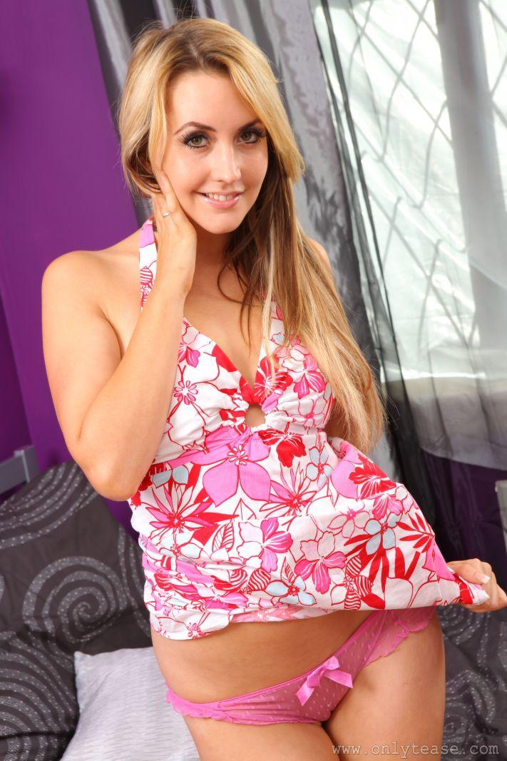 Catherine Exhibits Her Cute Pink Panties